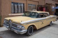 SELIGMAN, ARIZONA, USA - JULY 31 : Old Yellow taxi parked in Seligman Arizona USA on July 31, 2011