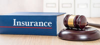 A law book with a gavel - Insurance