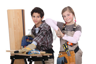 Child carpenters