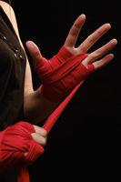 boxer wearing strap