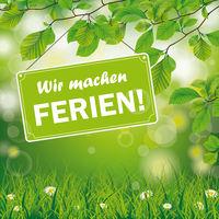 Green Natur Wir machen Ferien