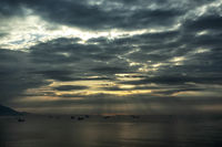 Yeosu ocean morning view