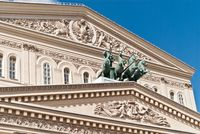 Fronton of the Moscow Big Theatre
