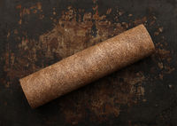 Dirty brown used water purification filter