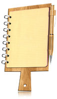 Notebook Shaped Cutting Board with Pages