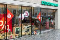 Filiale der Firma Deichmann in Kempten