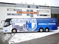 Mannschaftsbus 1.FC Magdeburg DFB 3.Liga Saison 2020-21