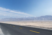 empty asphalt road on western wilderness