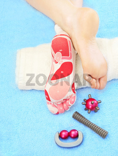 Massage of feet