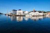 Blick auf die Stadt Arendal in Norwegen