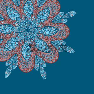 vector doodle flower background