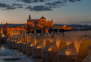 Mezquita cathedral and roman bridge, Cordoba, Spain