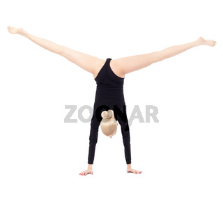 beautiful blonde gymnast