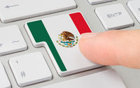 A keyboard with a labeled button - Flag of Mexico