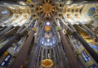 Barcelona. Catalonia. Spain. Basílica de la Sagrada Família