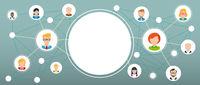 Humans Social Network Circle Centre