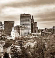 Providence Rhode Island Skyline during autumn season