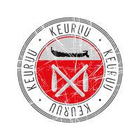 Keruu city postal rubber stamp