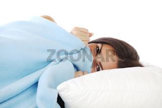 beauty woman sleep on the pillow