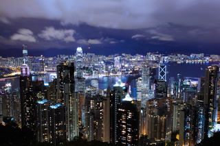 Hong Kong city view from the peak