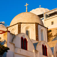 Domes of greek churches