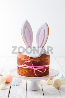 the bright Easter cake in the european style