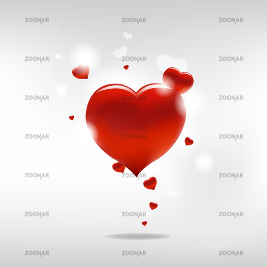 Valentine Background With Heart And Paper