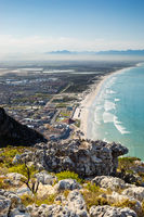 Elevated view of Muizenberg beach Cape Town