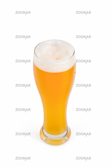 glass of beer isolated, clipping path