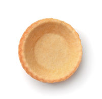 Top view of empty tart shell