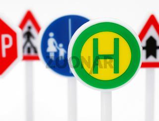 Verkehrs- Schilder