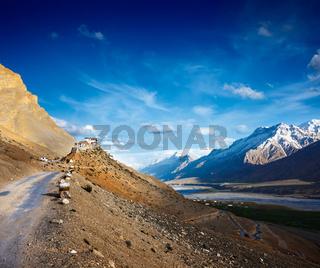 Road to Ki Monastery. Spiti Valley