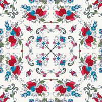 Rosemaling vector pattern 21