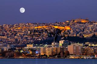 Thessaloniki during the sundown