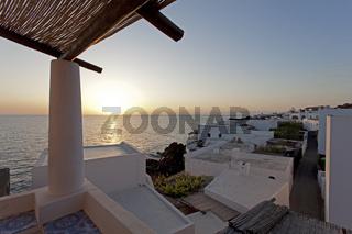 Blick auf das Mittelmeer, bei Stromboli, Italien