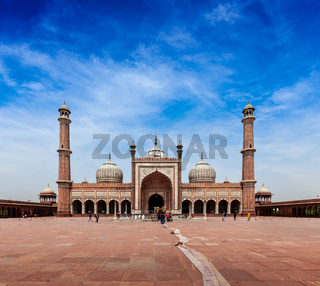 Jama Masjid - largest muslim mosque in India