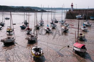 Hafen in Erquy, Bretagne, France
