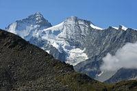 Gipfel Dent Blanche und Grand Cornier, Zinal, Val d'Anniviers, Wallis, Schweiz