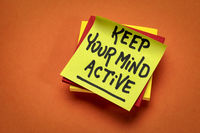 Keep your mind active reminder note