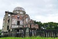 The Atomic Bomb Dome, second world war ruins left as memorial, Hiroshima, Japan