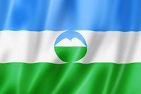 Kabardino Balkar state - Republic -  flag, Russia
