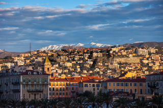 City of Nice at Sunrise in France