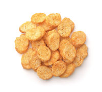 Pile of spiced wheat croutons