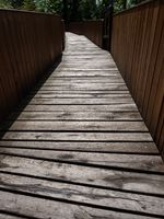 Wooden bridge of ancient fortres, wooden  pathway
