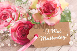 Wunderschöne Rosen zum Muttertag am 9 Mai
