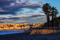 City of Nice in France at Sunrise