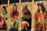 Spanien: Altarbild in der Kirche von Los Arcos