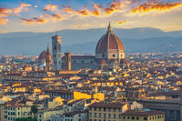 Florence Italy, sunrise city skyline at Florence Duomo Santa Maria del Fiore Cathedral, Tuscany Italy