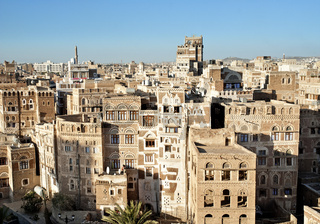 sanaa, yemen - traditional yemeni architecture