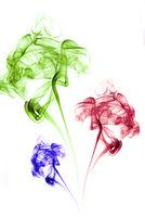 bunter rauch blumen auf weiss